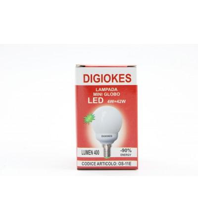 DIGIOKES LAMPADA MINI GLOBO LED E14 4W/42W 3000K